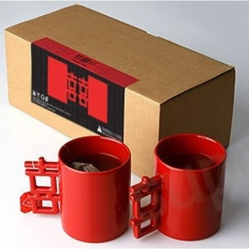 Red Couple Coffee Mug