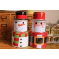 Santa Claus Christmas Metal Storage Box Set