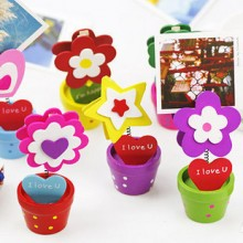 Beautiful Flowerpot Memo Clip (Set of 6pcs)
