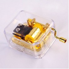 Gold Plated Hand Crank Music Box