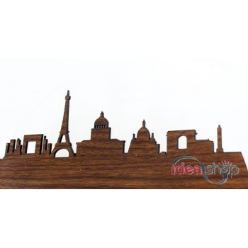 France City of Paris European Style Wooden Colour Wall Clock