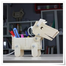 DIY Wooden Puppy Desk Lamp