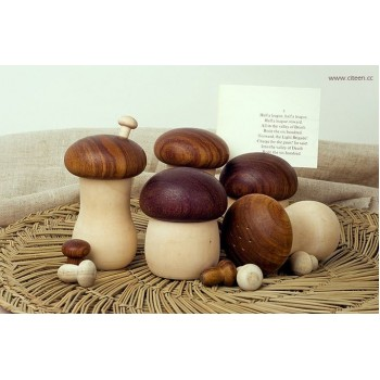 Mushroom Wooden Container