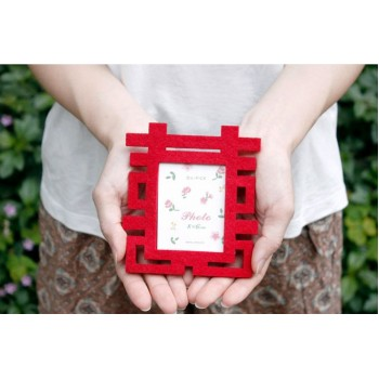 Red Wedding Magnet Photo Frame