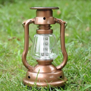 Hand-crank and Solar Powered Camping Lamp