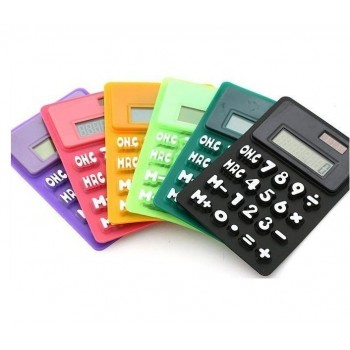 Silicone Flexible Solar Powered Calculator