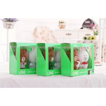 Line Brown and Cony Plush Toy