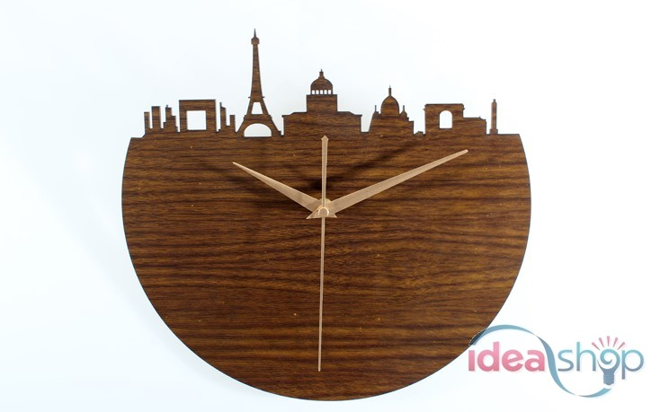 france-city-of-paris-european-style-wooden-wall-clock